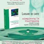 """Lansare de carte """"Homeopatie în psihoterapie – remedii în terapia cognitiv-comportamentală"""""""