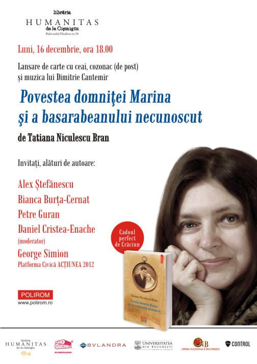 Afis Povestea domnitei Marina A3