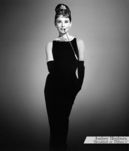 Audrey Hep's black dress 1