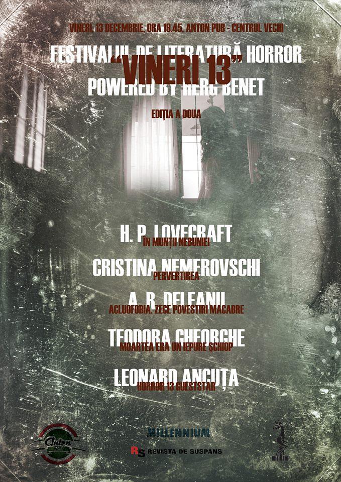 festivalul de literatura horror vineri 13