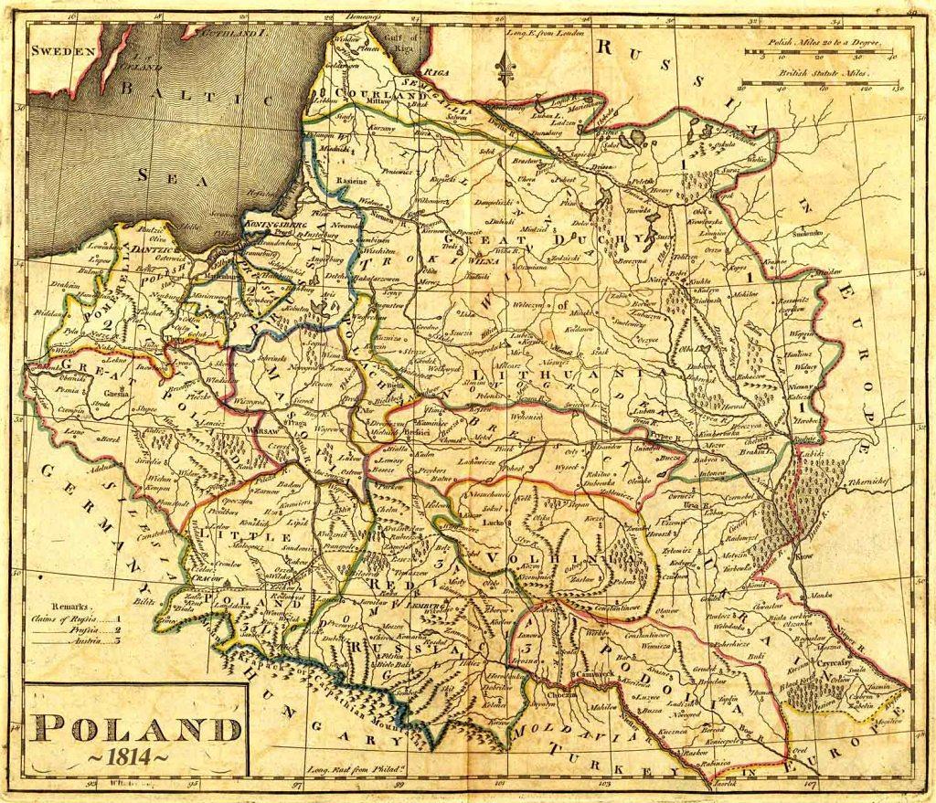 Harta Poloniei la 1814