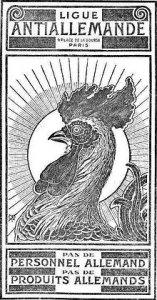 220px-Panonceau_de_la_Ligue_antiallemande_(1915)