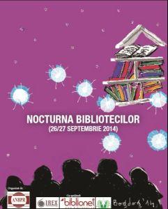 nocturna bibliotecilor - afis