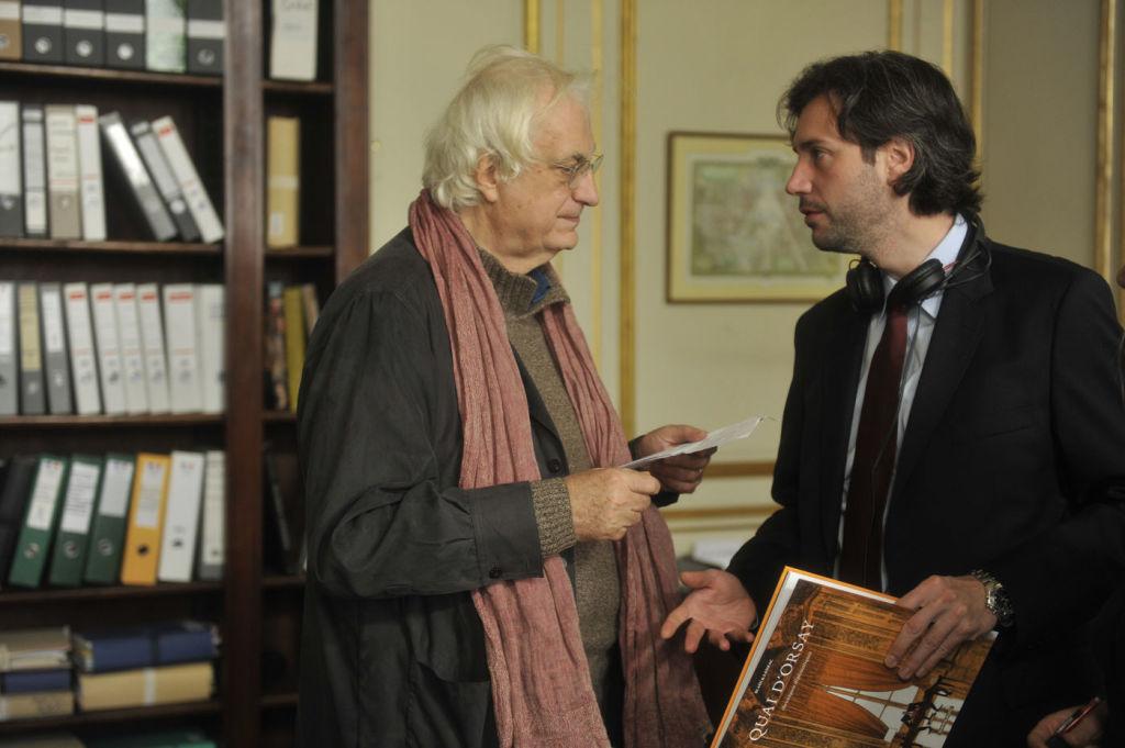 Bertrand Tavernier la filmarile pentru Quai d'Orsay