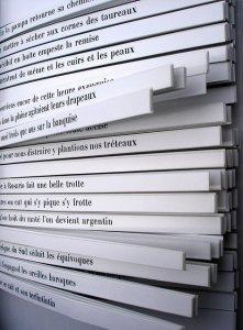 Versurile, aici în limba franceză