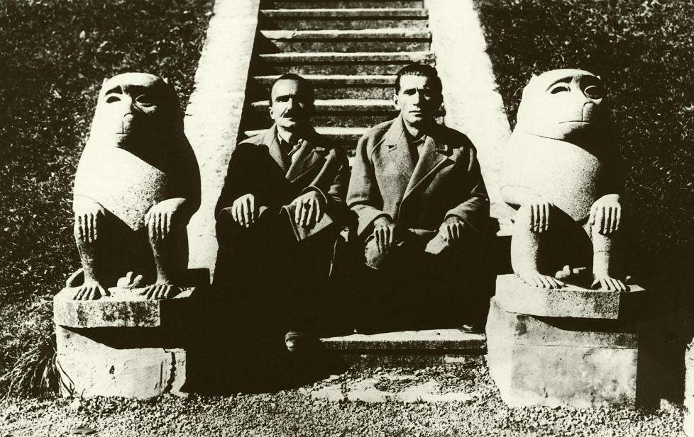 Panait Istrati impreuna cu Nikos Kazantzakis (arhiva Muzeului din Braila)