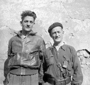 Frank Ryan și colegul din International Brigade, John Robinson