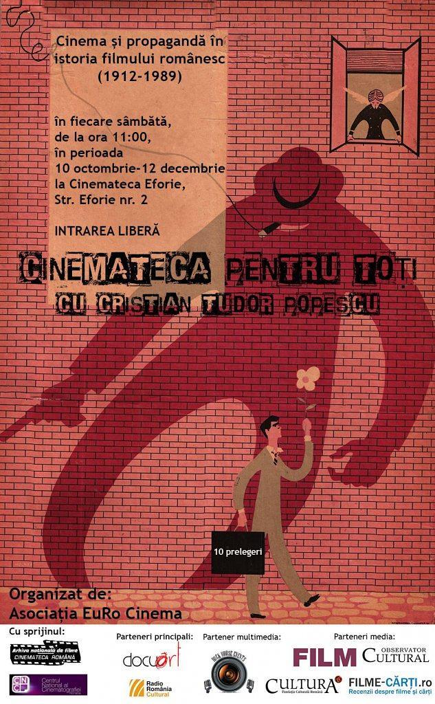 Afis Cinemateca pentru toti cu Cristian Tudor Popescu