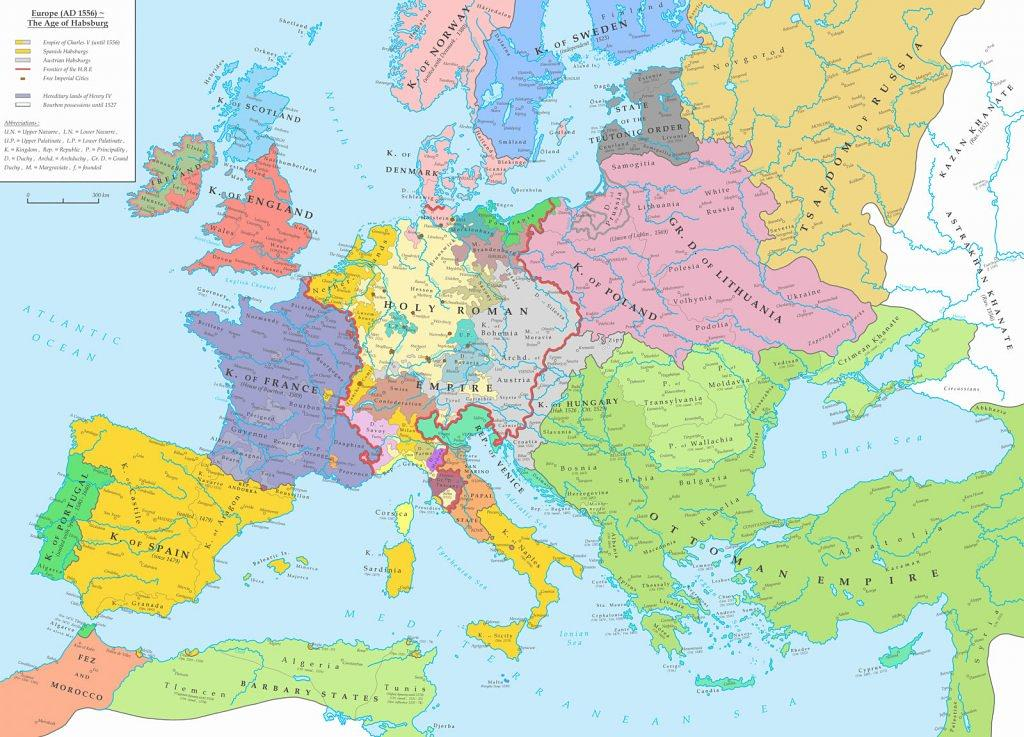 Europa în 1556