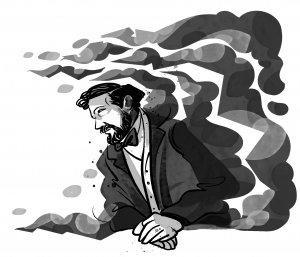 Debussy, o ilustrație de Maria Surducan