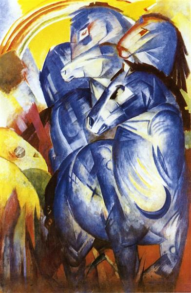 Franz Marc - The Tower Of Blue Horses, 1913