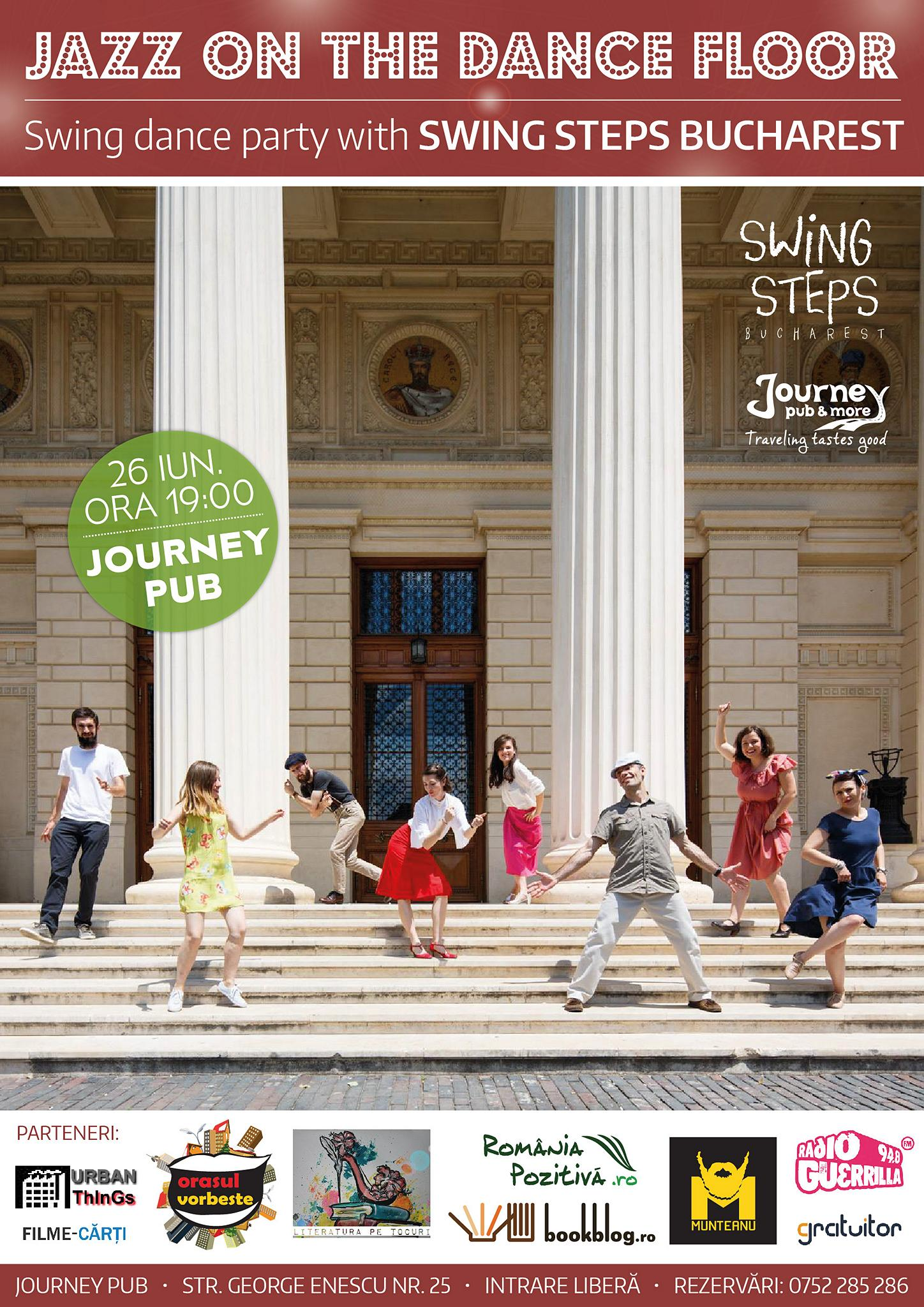 JAZZ ON THE DANCE FLOOR: Swing dance party with Swing Steps Bucharest