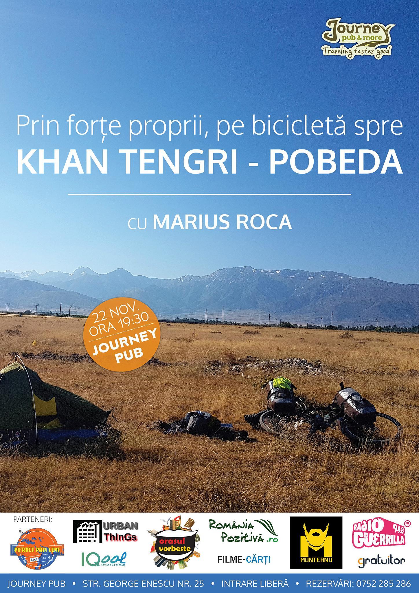 Prin forte proprii, pe bicicleta, spre Khan Tengri-Pobeda, cu Marius Roca